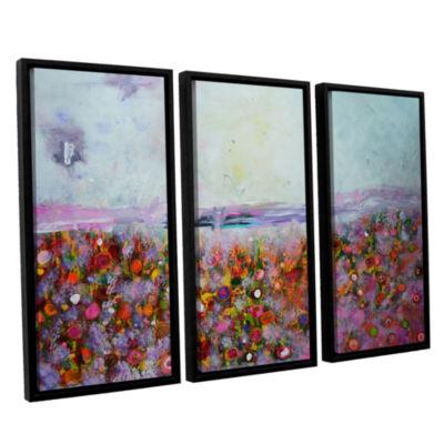Brushstone Rainbow Poppies 3-pc. Floater Framed Canvas Wall Art