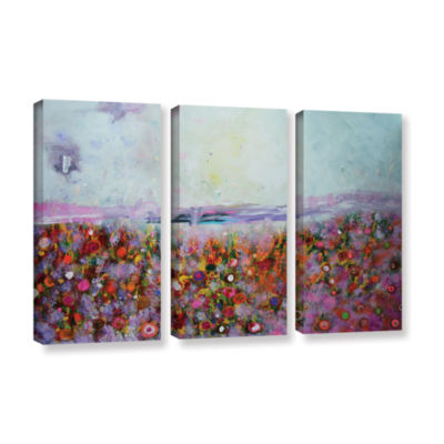Brushstone Rainbow Poppies 3-pc. Gallery Wrapped Canvas Wall Art