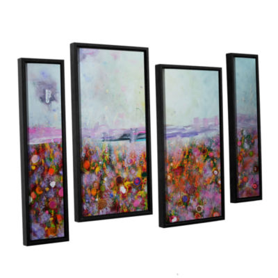 Brushstone Rainbow Poppies 4-pc. Floater Framed Staggered Canvas Wall Art