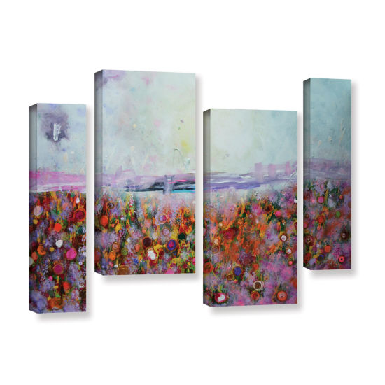 Brushstone Rainbow Poppies 4-pc. Gallery Wrapped Staggered Canvas Wall Art