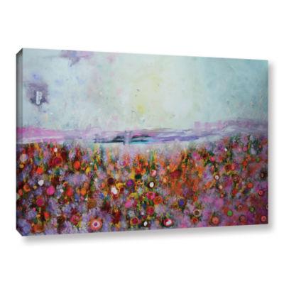 Brushstone Rainbow Poppies Gallery Wrapped CanvasWall Art