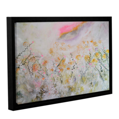 Brushstone Rainbow Poppies Gallery Wrapped Floater-Framed Canvas Wall Art