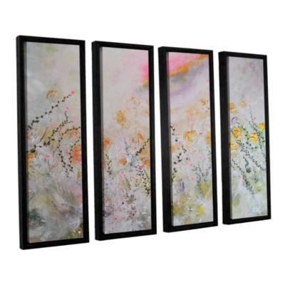 Brushstone Secret Garden 4-pc. Floater Framed Canvas Wall Art