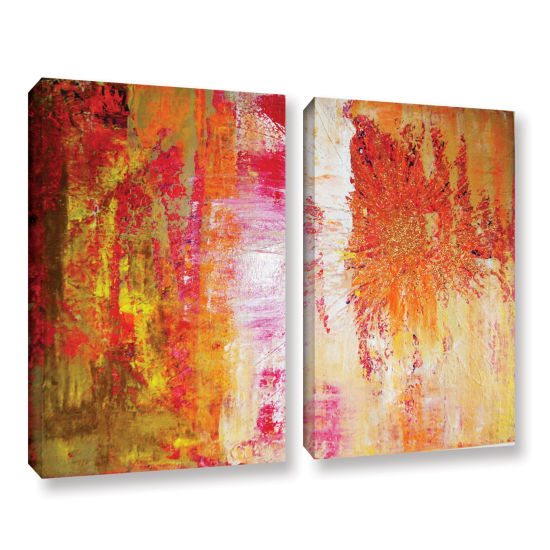 Brushstone Uncover The Sun 2-pc. Gallery Wrapped Canvas Wall Art