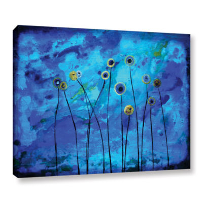 Brushstone Space Poppies Gallery Wrapped Canvas Wall Art