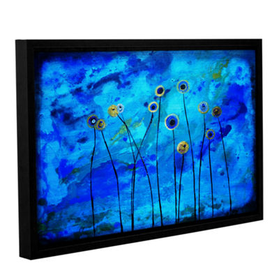 Brushstone Space Poppies Gallery Wrapped Floater-Framed Canvas Wall Art