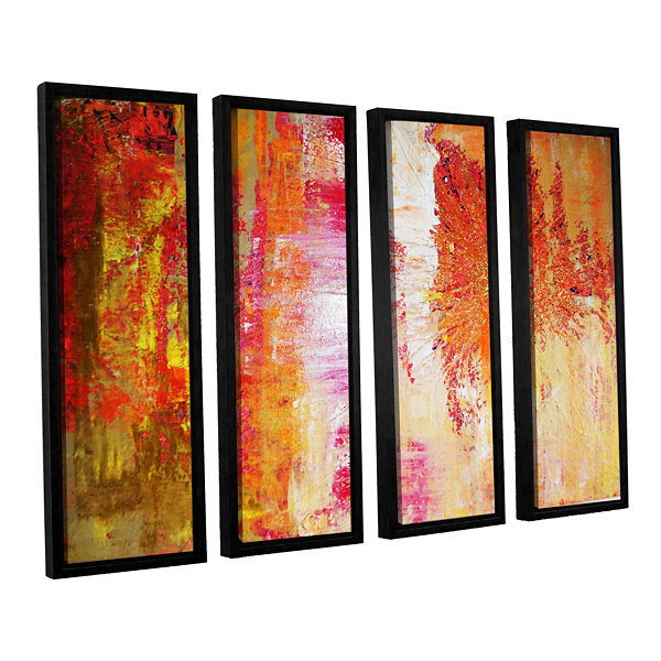 Brushstone Uncover The Sun 4-pc. Floater Framed Canvas Wall Art