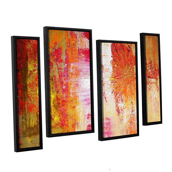 Brushstone Uncover The Sun 4-pc. Floater Framed Staggered Canvas Wall Art
