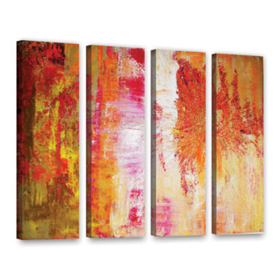 Brushstone Uncover The Sun 4-pc. Gallery Wrapped Canvas Wall Art