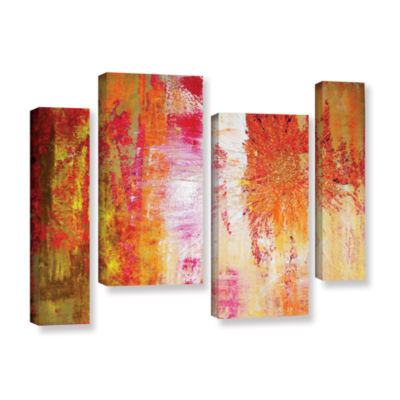Brushstone Uncover The Sun 4-pc. Gallery Wrapped Staggered Canvas Wall Art