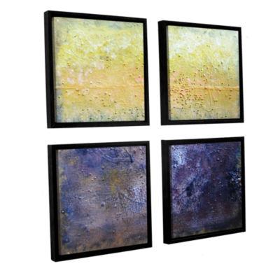 Brushstone Under The Sun 4-pc. Floater Framed Canvas Square