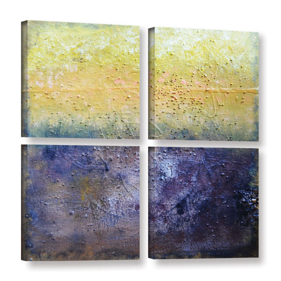 Brushstone Under The Sun 4-pc. Gallery Wrapped Canvas Square