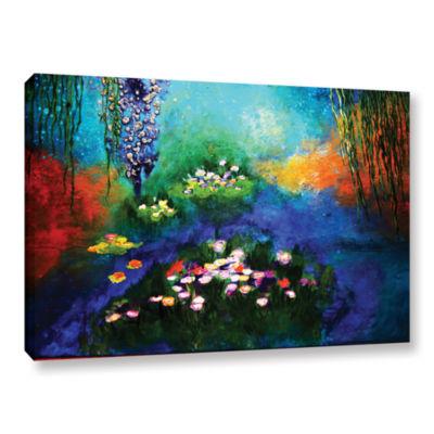 Brushstone Waterlilies Dance 2 Gallery Wrapped Canvas Wall Art