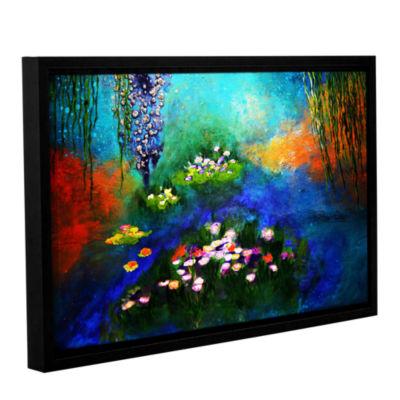 Brushstone Waterlilies Dance 2 Gallery Wrapped Floater-Framed Canvas Wall Art