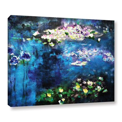 Brushstone Waterlilies Dance Gallery Wrapped Canvas Wall Art