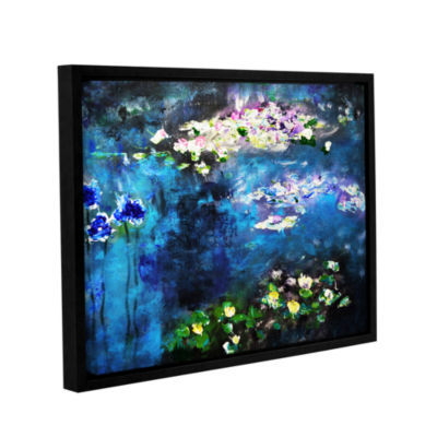 Brushstone Waterlilies Dance Gallery Wrapped Floater-Framed Canvas Wall Art