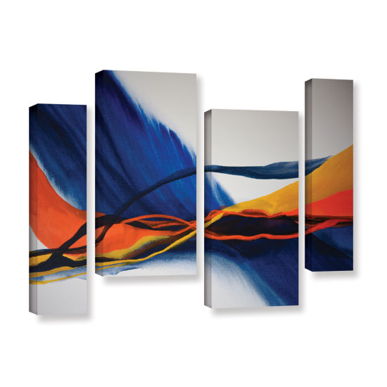 Brushstone Blue Wave 4-pc. Gallery Wrapped Staggered Canvas Wall Art