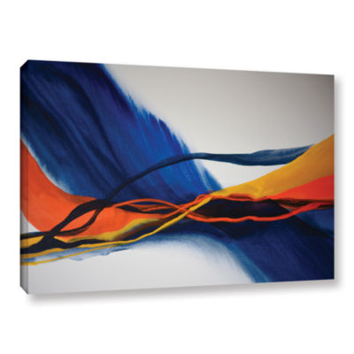 Brushstone Blue Wave Gallery Wrapped Canvas Wall Art