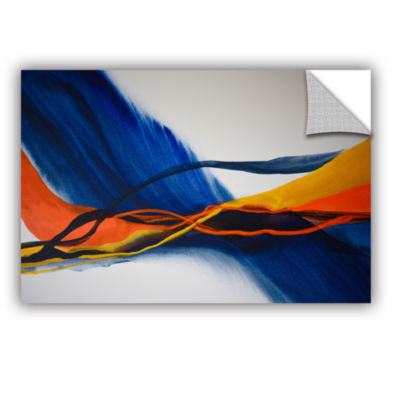Brushstone Blue Wave Removable Wall Decal