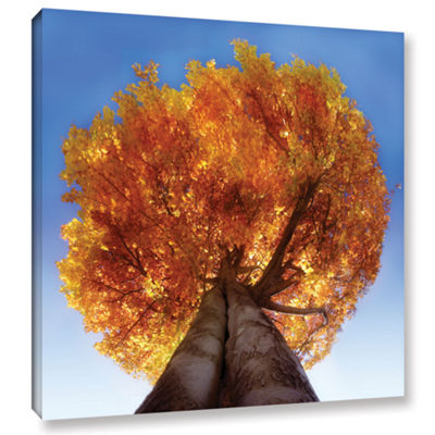 Brushstone Burning Tree Gallery Wrapped Canvas Wall Art