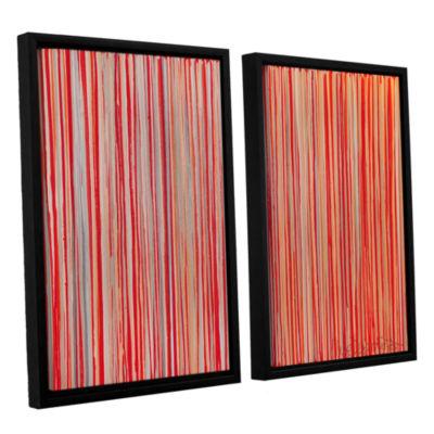 Brushstone Cayenne 2-pc. Floater Framed Canvas Wall Art