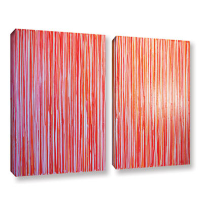 Brushstone Cayenne 2-pc. Gallery Wrapped Canvas Wall Art