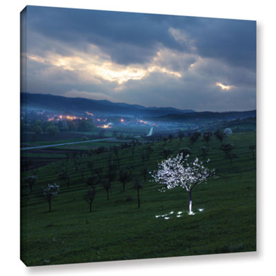 Brushstone Out On The Hill Gallery Wrapped CanvasWall Art