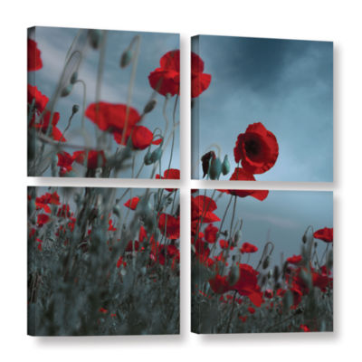 Brushstone Hot Cold Contrast 4-pc. Square GalleryWrapped Canvas