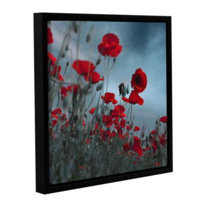 Hot Cold Contrast Floater-Framed Gallery Wrapped Canvas