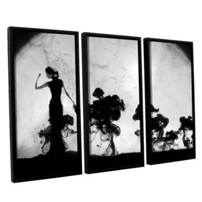 Brushstone Silhuette In Moonlight 3-pc. Floater Framed Canvas Wall Art