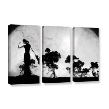 Brushstone Silhuette In Moonlight 3-pc. Gallery Wrapped Canvas Wall Art