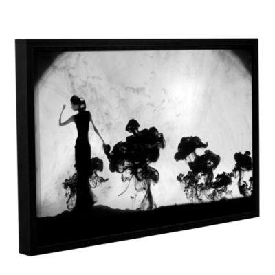 Brushstone Silhuette In Moonlight Gallery WrappedFloater-Framed Canvas Wall Art