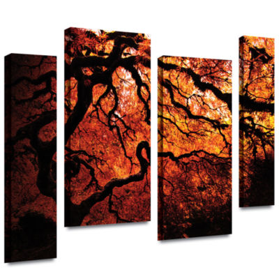 Brushstone Japanese Tree 4-pc. Gallery Wrapped Staggered Canvas Wall Art