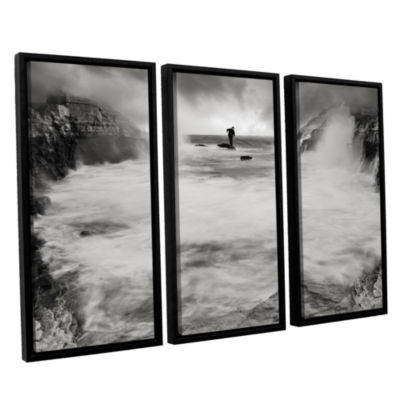 Brushstone Life Like A Rorschach Test 2 3-pc. Floater Framed Canvas Wall Art