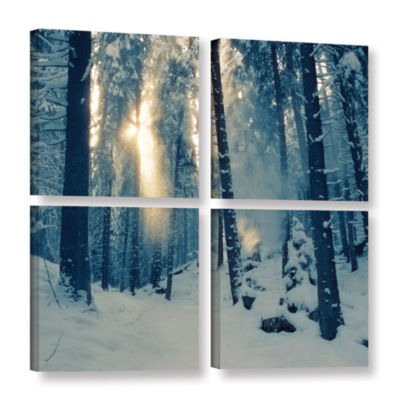 Brushstone Winter Light 4-pc. Square Gallery Wrapped Canvas