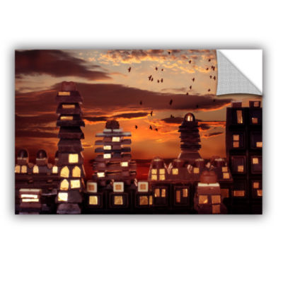 Brushstone Sweet Cityscape Removable Wall Decal