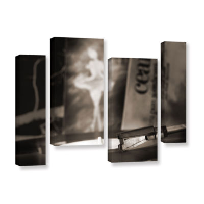 Brushstone The White Swan 4-pc. Gallery Wrapped Staggered Canvas Wall Art