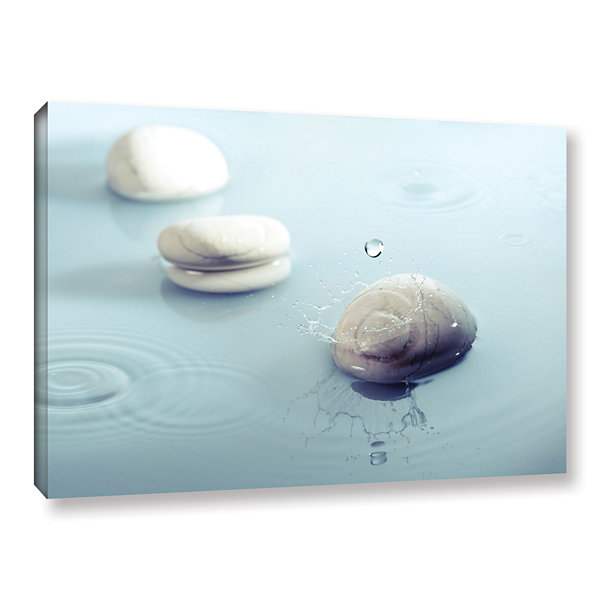 Brushstone Zen Rain 1 Gallery Wrapped Canvas WallArt