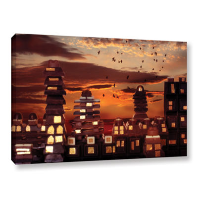 Brushstone Sweet Cityscape Gallery Wrapped CanvasWall Art