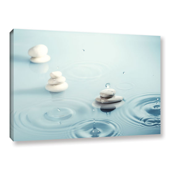 Brushstone Zen Rain 3 Gallery Wrapped Canvas WallArt