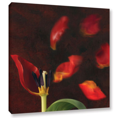 Brushstone Tulip And Windy Mood Gallery Wrapped Canvas Wall Art