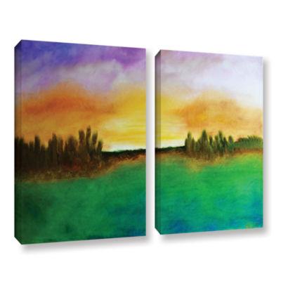 Brushstone Sunshine Love 2-pc. Gallery Wrapped Canvas Wall Art