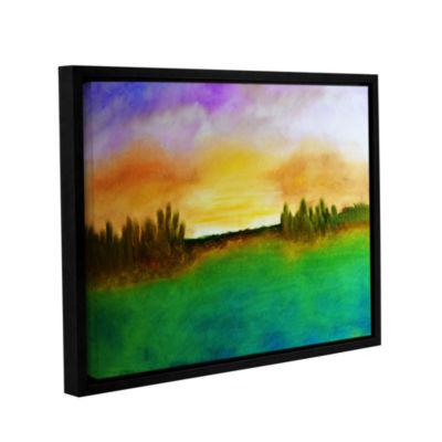 Brushstone Sunshine Love Gallery Wrapped Floater-Framed Canvas Wall Art