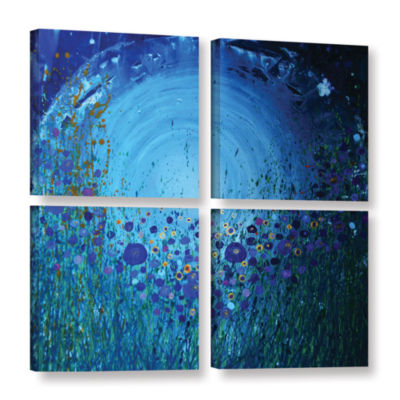 Brushstone Moon Poppies 4-pc. Gallery Wrapped Canvas Square
