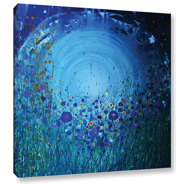 Brushstone Moon Poppies Gallery Wrapped Canvas Wall Art