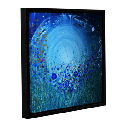 Brushstone Moon Poppies Gallery Wrapped Floater-Framed Canvas Wall Art
