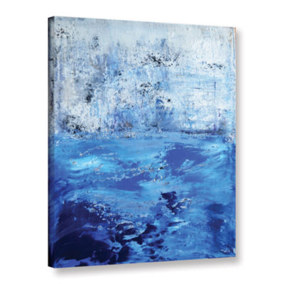 Brushstone Into The Blue Gallery Wrapped Canvas Wall Art