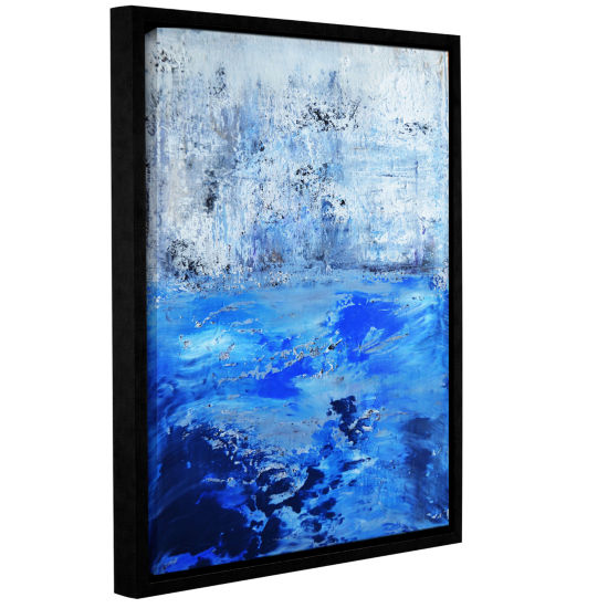 Brushstone Into The Blue Gallery Wrapped Floater-Framed Canvas Wall Art