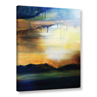 Brushstone Abstract Landscape 2 Gallery Wrapped Canvas Wall Art