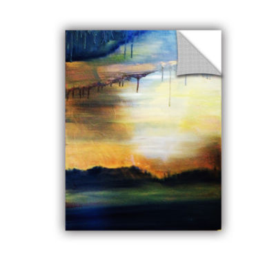 Brushstone Abstract Landscape 2 Removable Wall Decal